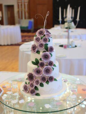 Cascade of Purple Roses