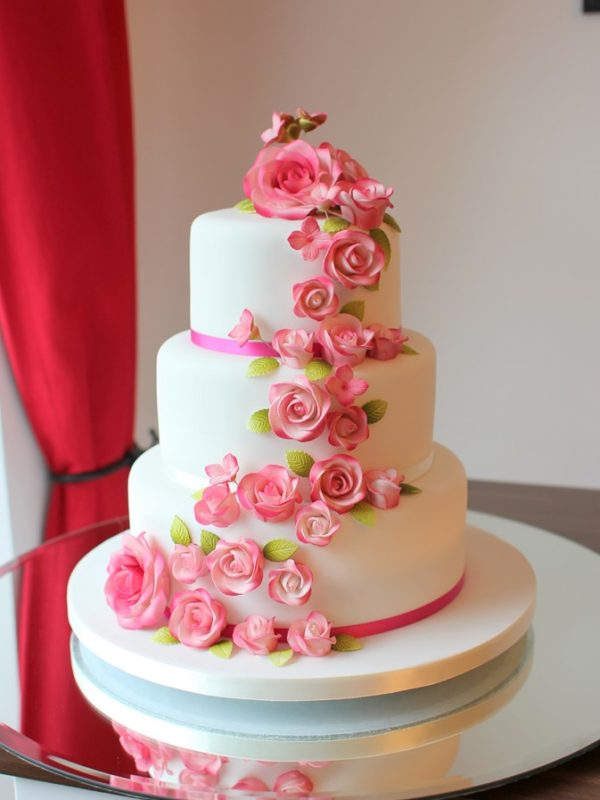 Fondant Wedding Cakes French Wedding Cakes